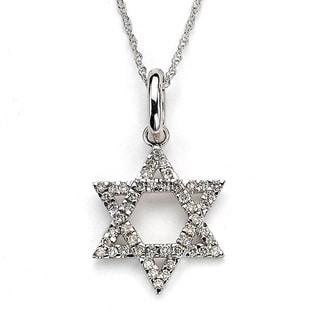 DFAC by Neda Behnam 14k Gold 1/2ct TDW Diamond Star of David Pendant