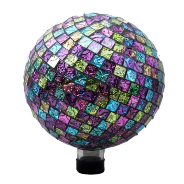 Embossed Pink/ Purple/ Green Tile Gazing Globe