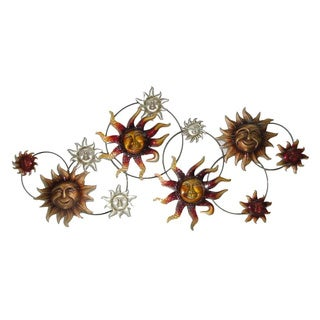 40-inch Sun Strand Metal Wall Decor