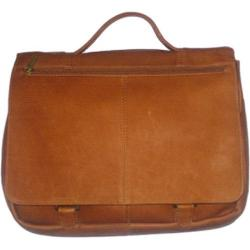 David King Leather 114 Expandable Briefcase Tan