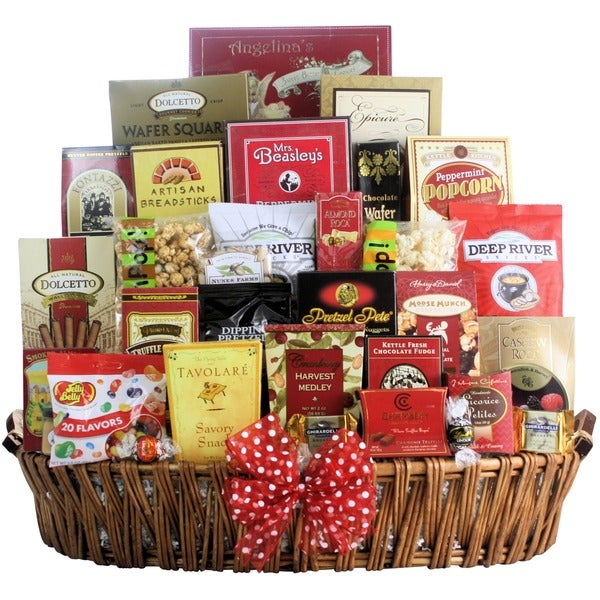 Magnificent Holiday Munchies Gourmet Christmas Gift Basket
