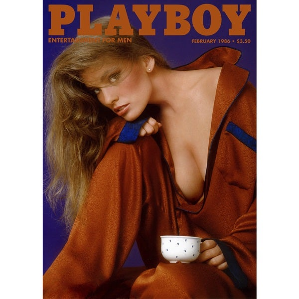 Marmont Hill Art Collective Playboy Cover 'February 1986' Fine Art Canvas Print