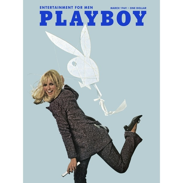 Marmont Hill Art Collective Playboy Cover 'March 1969' Fine Art Canvas Print