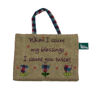 Handmade 'Count Your Blessings' Decorative Sign (India)