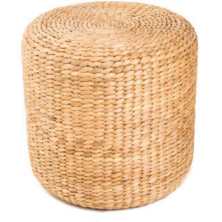 Water Hyacinth Halo Threaded Ottoman (Vietnam)