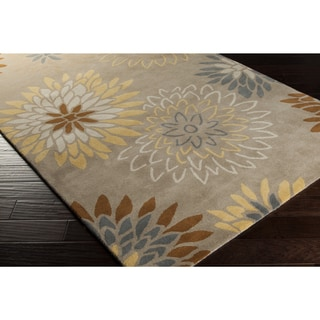 Hand-tufted 'Dazzle' Beige/ Multicolored Floral Wool Rug (6' x 9')