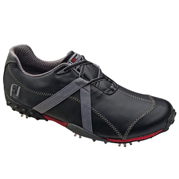 FootJoy Men's M Project Black/Charcoal Spiked Golf Shoes