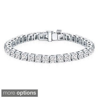 Auriya 14k White or Yellow Gold 15ct TDW Clarity-Enhanced Diamond Tennis Bracelet (H-I, I2-I3)