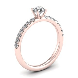 De Couer 14k Rose Gold 3/4ct TDW Diamond Classic Engagement Ring (H-I, I1-I2)