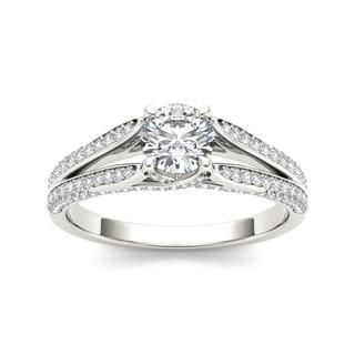 De Couer 14k White Gold 1ct TDW White Diamond Engagement Ring (H-I, I2)