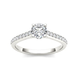 De Couer 14k White Gold 1ct TDW Diamond Engagement Ring (H-I, I2)
