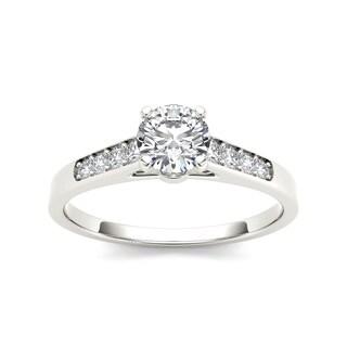 De Couer 14k White Gold 1/2ct TDW Diamond Engagement Ring (H-I, I2)