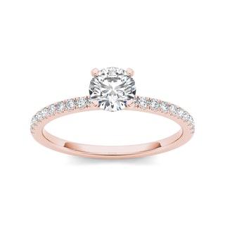 De Couer 14k Rose Gold 3/4ct TDW Diamond Engagement Ring (H-I, I2)