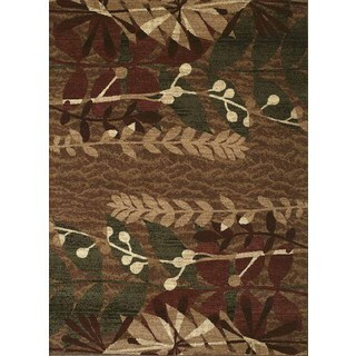 Urban Trends Botanic Light Brown Area Rug (7'10 x 10'6)