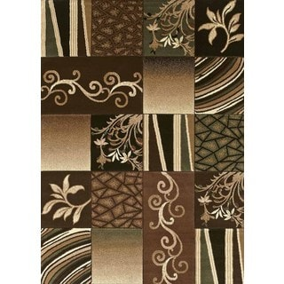 Urban Trends Timeless Light Brown Area Rug (7'10 x 10'6)
