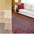 Hand-tufted Rome Floral Border Wool Area Rug (5' x 8')