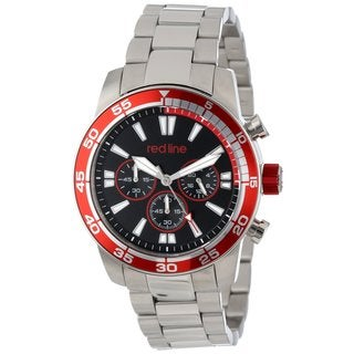 Red Line Men's RL-60008 Cruiser Black and Red Watch