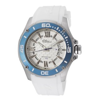 Elini Barokas Men's ELINI-10196-02S-WHT Artisan Silver Watch