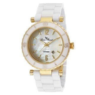 Lucien Piccard LP-10222-WWGA La Tournette White Mother of Pearl Watch