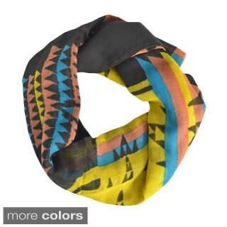 LA 77 Multicolored Geometric Print Scarf