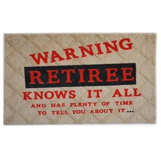 "Retiree Indoor Mat (18"" x 27"")"