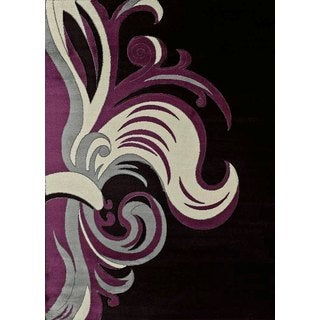 Urban Trends Gracile Plum Area Rug (7'10 x 10'6)