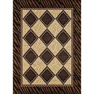 Urban Trends Jared Light Brown Area Rug (7'10 x 10'6)