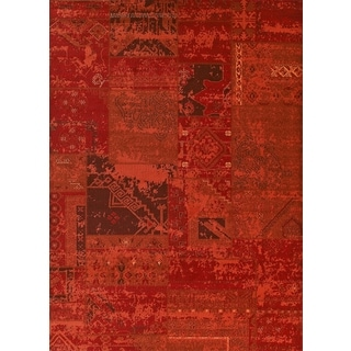 Runway Miranda Orange Area Rug (7'10 x 10'6)
