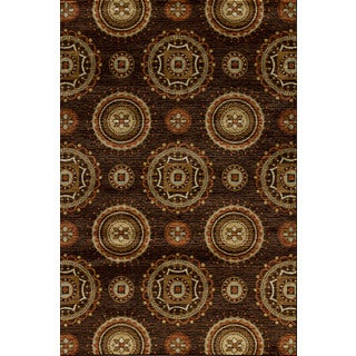 Encore Sienna 041 Bonita Dark Wine Area Rug (5' x 7'7)