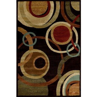 Christopher Knight Home Encore Sienna 041 Circumference Dark Wine Area Rug (5' x 7'7)