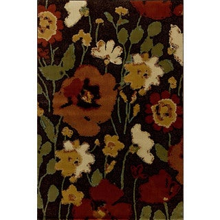 Christopher Knight Home Encore Sienna 041 Spring Meadow Dark Wine Area Rug (5' x 7'7)
