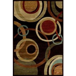 Christopher Knight Home Encore Sienna 041 Circumference Dark Wine Area Rug (7'10 x 9'10)