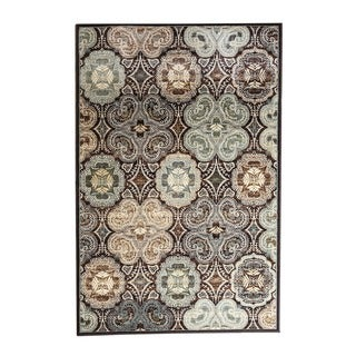 Somette Encore Renaissance 040 Kent Dark Wine Area Rug (5' x 7'7)