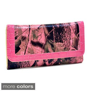 Patent Camouflage Tri-fold Western Wallet