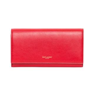 Saint Laurent Large Red Flap Leather Wallet
