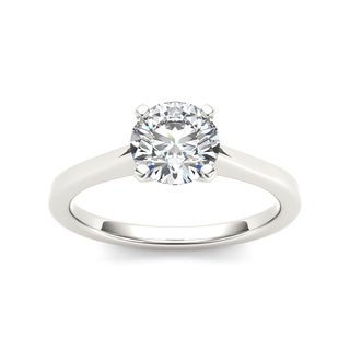 De Couer 14k White Gold 3/4ct TDW White Diamond Solitaire Ring (H-I, I2)