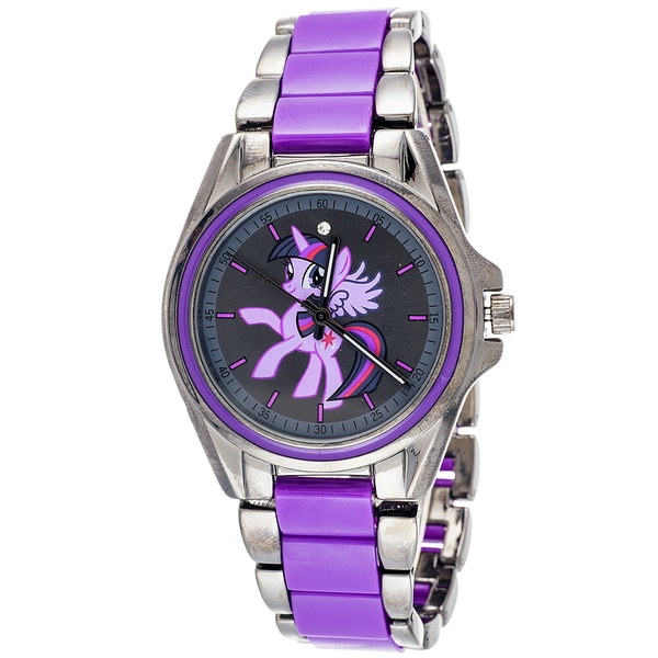 My Little Pony Twilight Sparkly Girls Purple Girls Watch with Collectible tin set