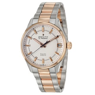 Zenith Men's 'El Primero Espada' 18k Rose Gold and Stainless Steel Swiss Mechanical Automatic Watch