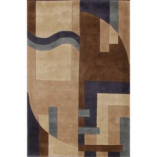 Stylish Geometric Designed Rug (3'6 x 5'6)