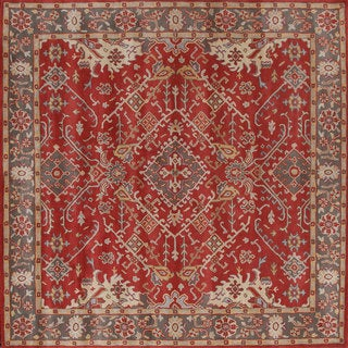 Deep and Bold Red Wool Rug (5' x 8')