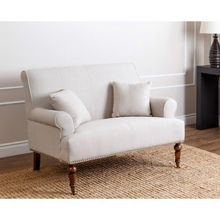 Monica Pedersen Grey Linen Settee by Abbyson Living