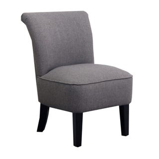 Abbyson Living Karsen Grey Linen Rounded Chair