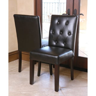 ABBYSON LIVING Daniel Tufted Leather Dining Chair (Set of 2)