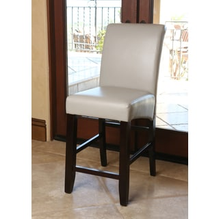 Abbyson Living Venice Grey Leather Counterstool
