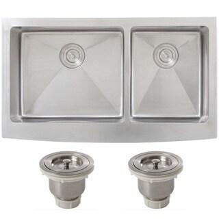 Ticor 4416BG-BASK Double Bowl Stainless Steel Undermount Kitchen Sink