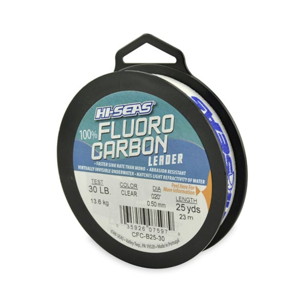 Hi-Seas 100-percent Fluorocarbon Leader Clear 25-yard Fishing Line