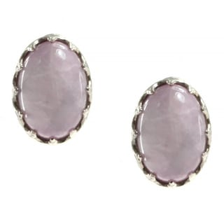 Dallas Prince Sterling Silver and Kunzite Omega Back Earrings