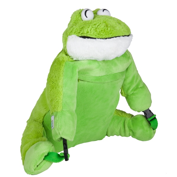 Wildkin Frog Kids' Luggable Plush Backpack