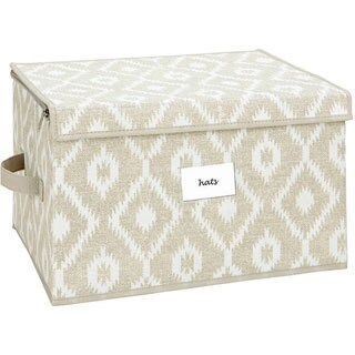 The Macbeth Collection Large Zippered Storage Box in India Faux Jute