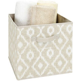 The Macbeth Collection Storage Cube in India Faux Jute